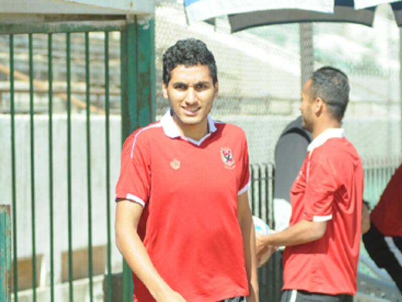 Ahly youngster Ahmed Hamdy during the team's training (Photo: Ahly's official website)