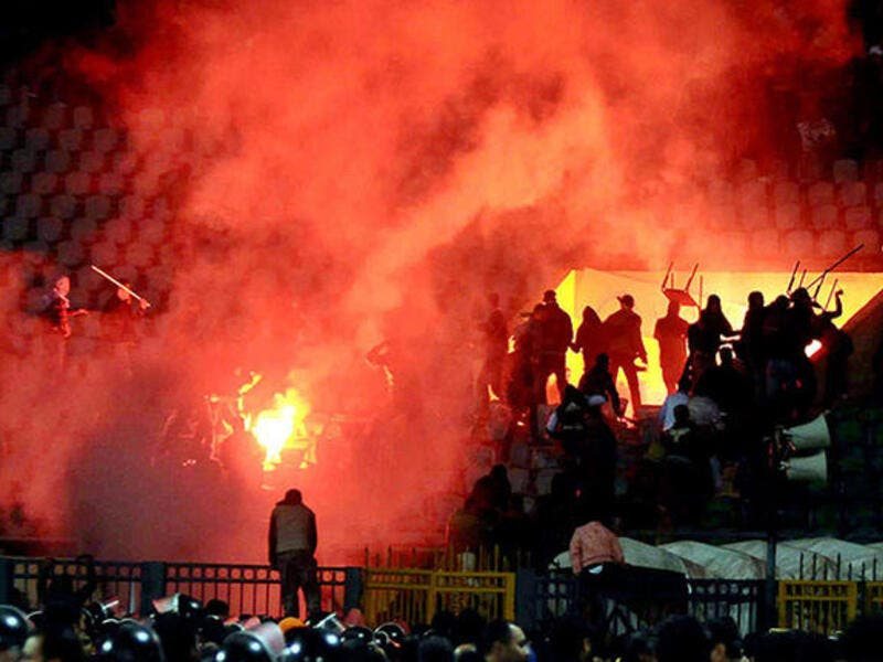In February 2012, Egypt effected a ban on football audiences after a controversial riot killed 72 Al-Ahly fans in Port Said Stadium.
