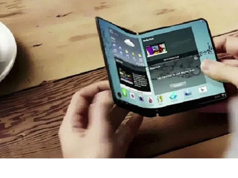 It's widely speculated that the external screen is at 4.5 inches, while the internal ones clock in at a combined 7.3 inches. (Khaleej Times)