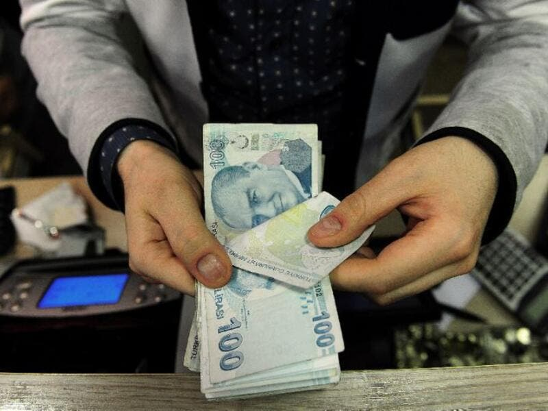 While the value of the Turkish lira has dropped, banks remain stable. (AFP/File)