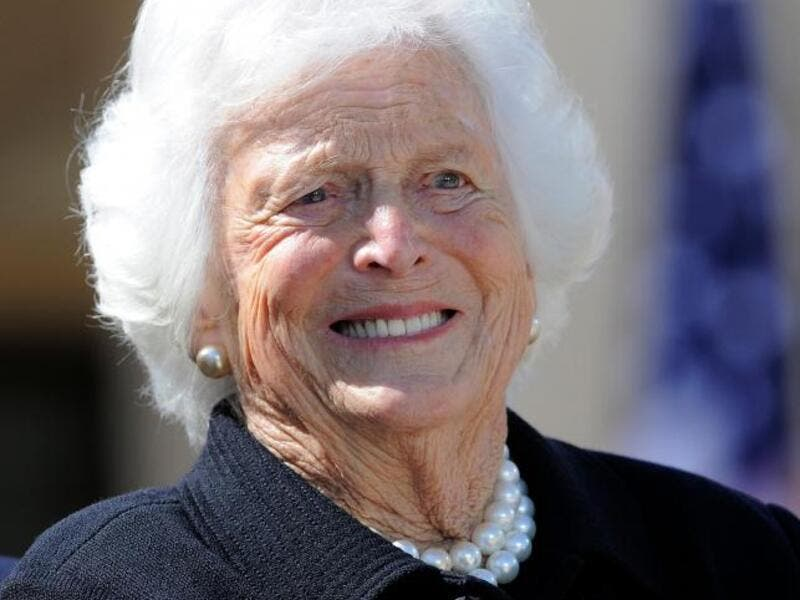 US First Lady Barbara Bush during the George W Bush Presidential Center dedication ceremony in Dallas, Texas. (AFP/ File Photo)