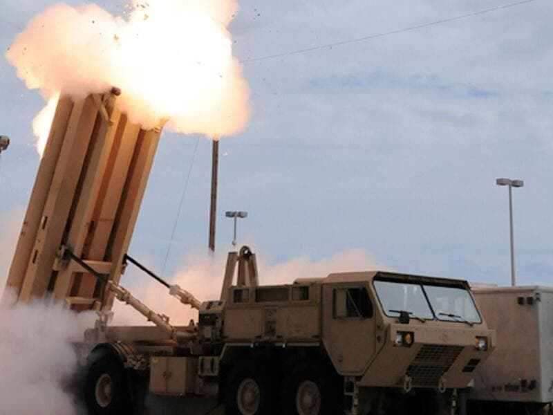The THAAD missile system. (AFP/ File)