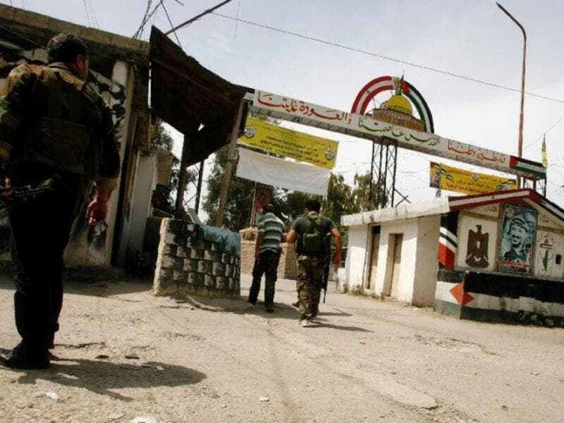 The entrance to the Ain el-Hilweh Palestinian refugee camp is seen in Sidon, Lebanon. (AFP/File)