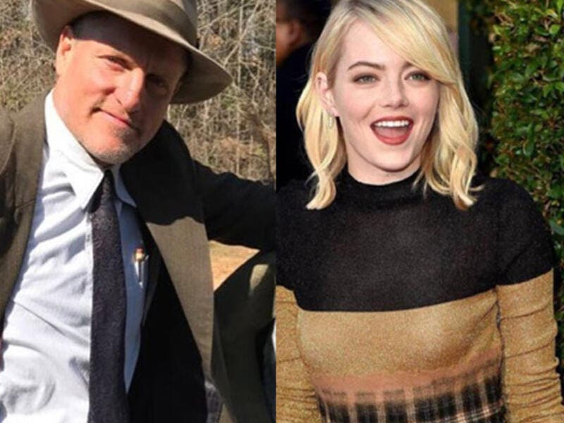 production is scheduled to start in January (Source: woodyharrelson. , emmastone_official_ / instagram  )