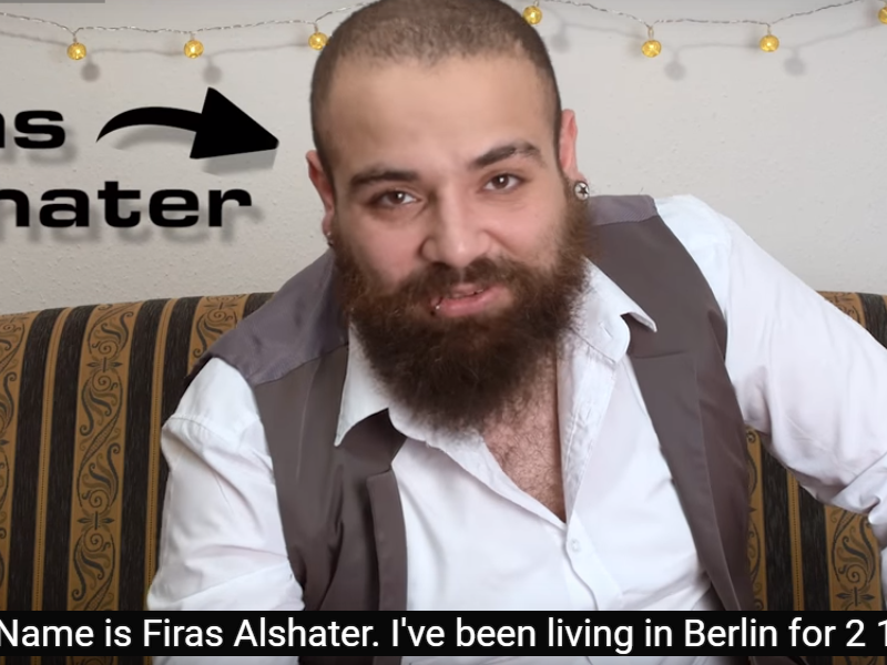 24-year-old Faris Alshater has become hugely popular on YouTube with his series of short, humorous videos showing Germany from the perspective of a Syrian refugee. (YouTube Screenshot)