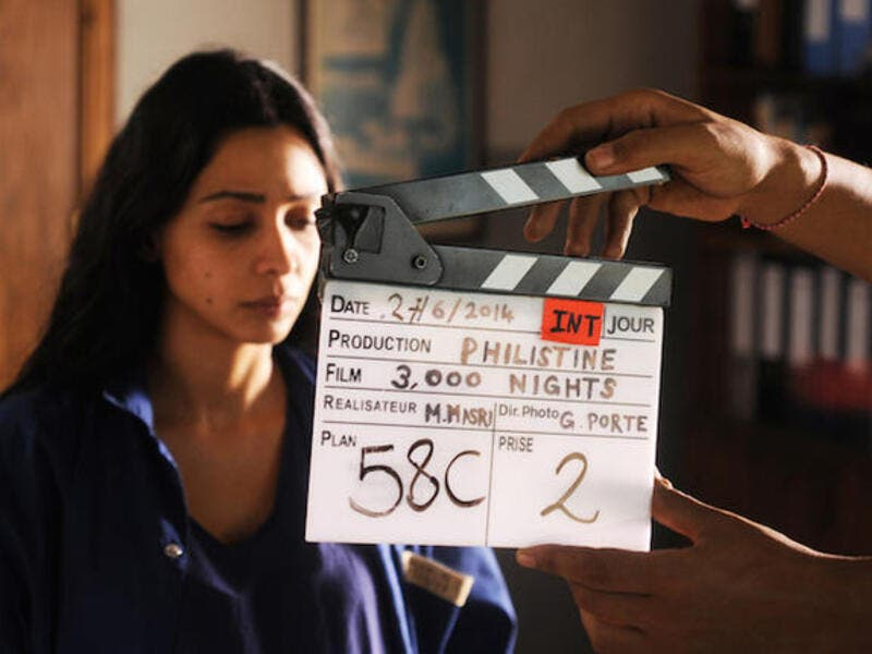 A still from the production of Mai Masri's film 3000 Nights. (File photo)