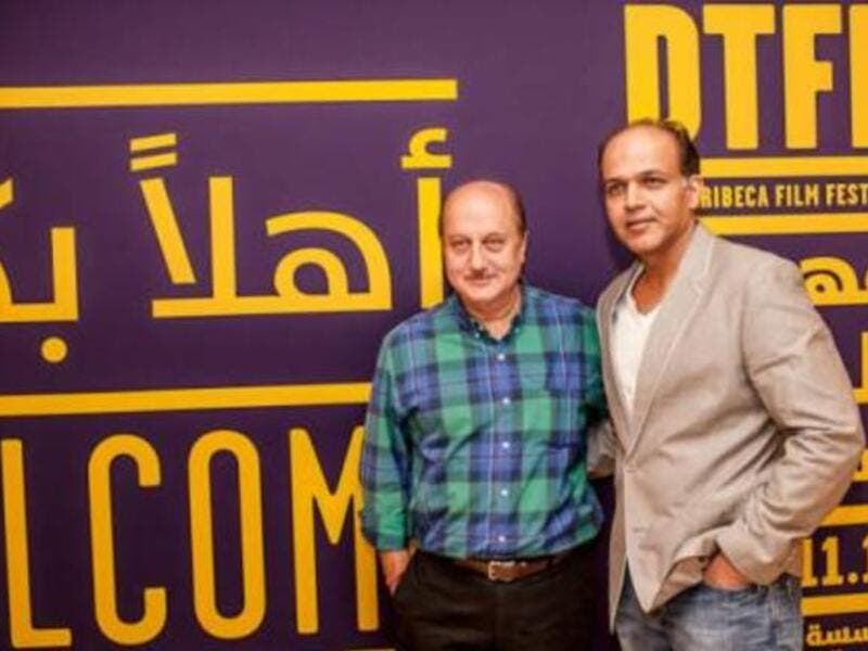DTFF 2012: Anupam Kher (L) and Ashutosh Gowariker (R) at India Discussion press conference