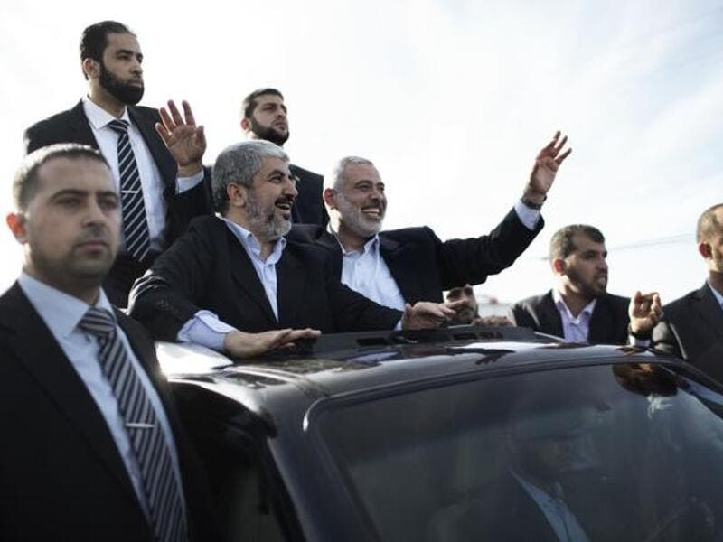 Khaled Meshaal on first-ever Gaza visit (Photo: Marco Longari / AFP)
