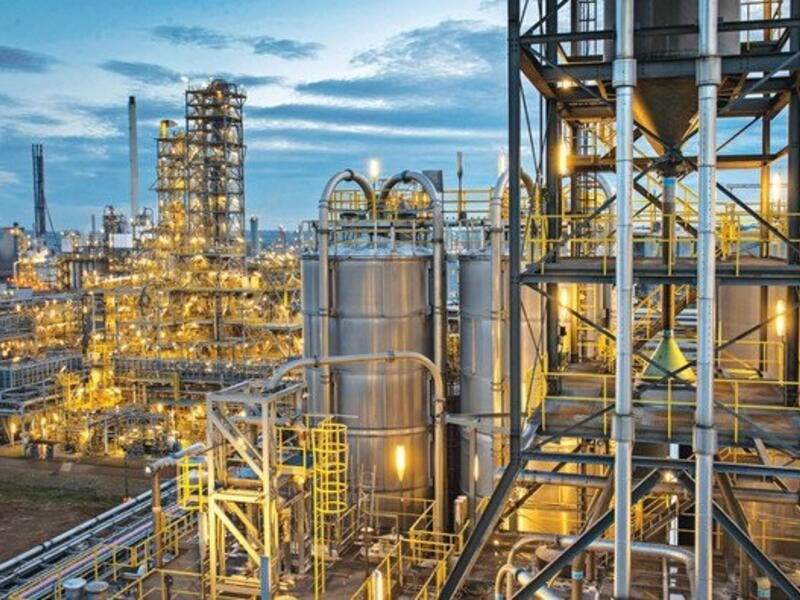 Today SABIC's chemical operations embrace the world, with plants in Geleen, in the Netherlands, and Yanbu in Saudi Arabia, but its striking headquarters are still in Riyadh. (Arab News)