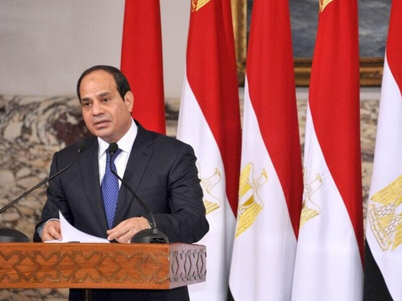 During his speech, Egyptian President Abdel Fattah Al-Sisi urged the parliament to finalize the legislation of several laws that are meant to regulate labor and workers' rights, including the country's labor law. (AFP/ File)
