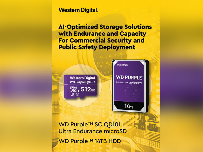 Western Digital introduced the WD Purple SC QD101 Ultra Endurance microSD card designed specifically for equipment makers