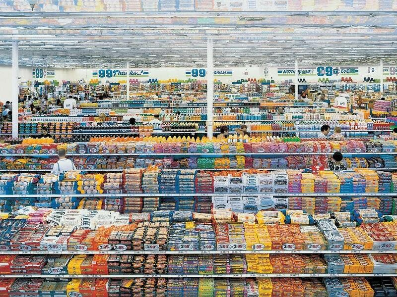 6. Andreas Gursky, 99 Cent II Diptychon