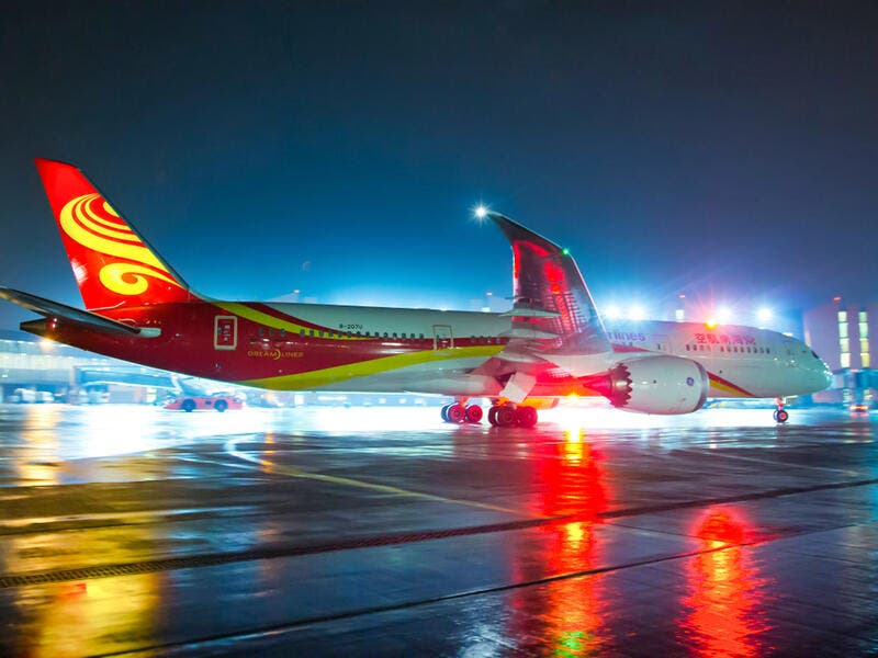 8. Hainan Airlines: Hainan Airlines was founded in January, 1993 in Hainan Province. At the end of June 2018, Hainan Airlines and its holding subsidiaries had over 400 aircraft in operation and 24 bases/branch companies. Hainan Airlines network covers China, numerous points in Asia and extends to Europe, North America and the South Pacific.