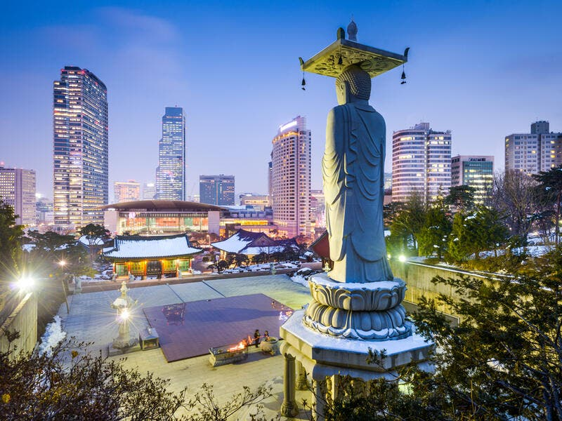 7. Seoul: South Korea's capital ranking dropped one place, and it shares the same ranking as Copenhagen and New York this year.