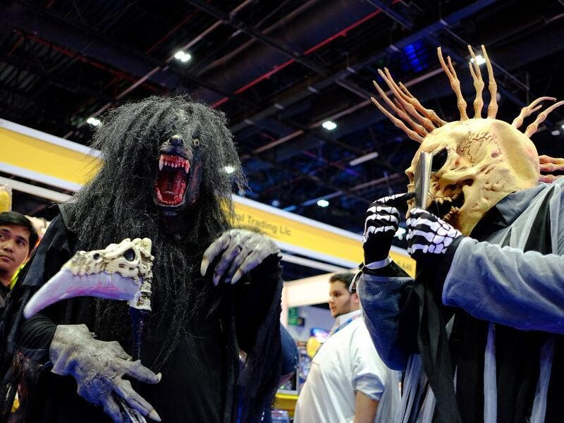 At the Middle East Film and Comic Con at Dubai World Trade Centre on Thursday. (Shihab/Khaleej Times)
