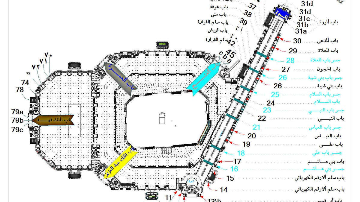 يصل ارتفاعها الى 51 متر السعودية تدشن أضخم بوابة في الحرم المكي البوابة