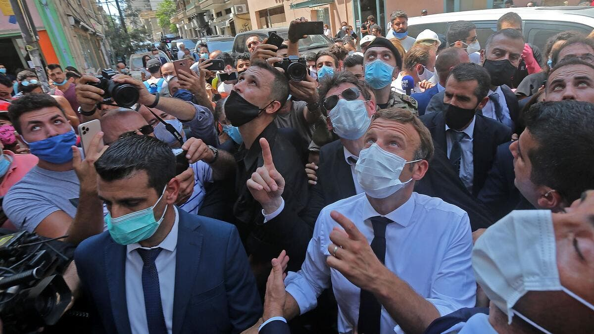 Macron in Beirut (AFP/Getty Images)