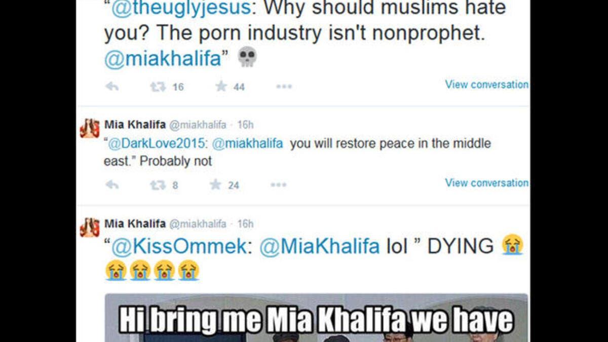 Mama Mia libanesiske Miami Porn Star Mia Khalifa vækker Ny-6329