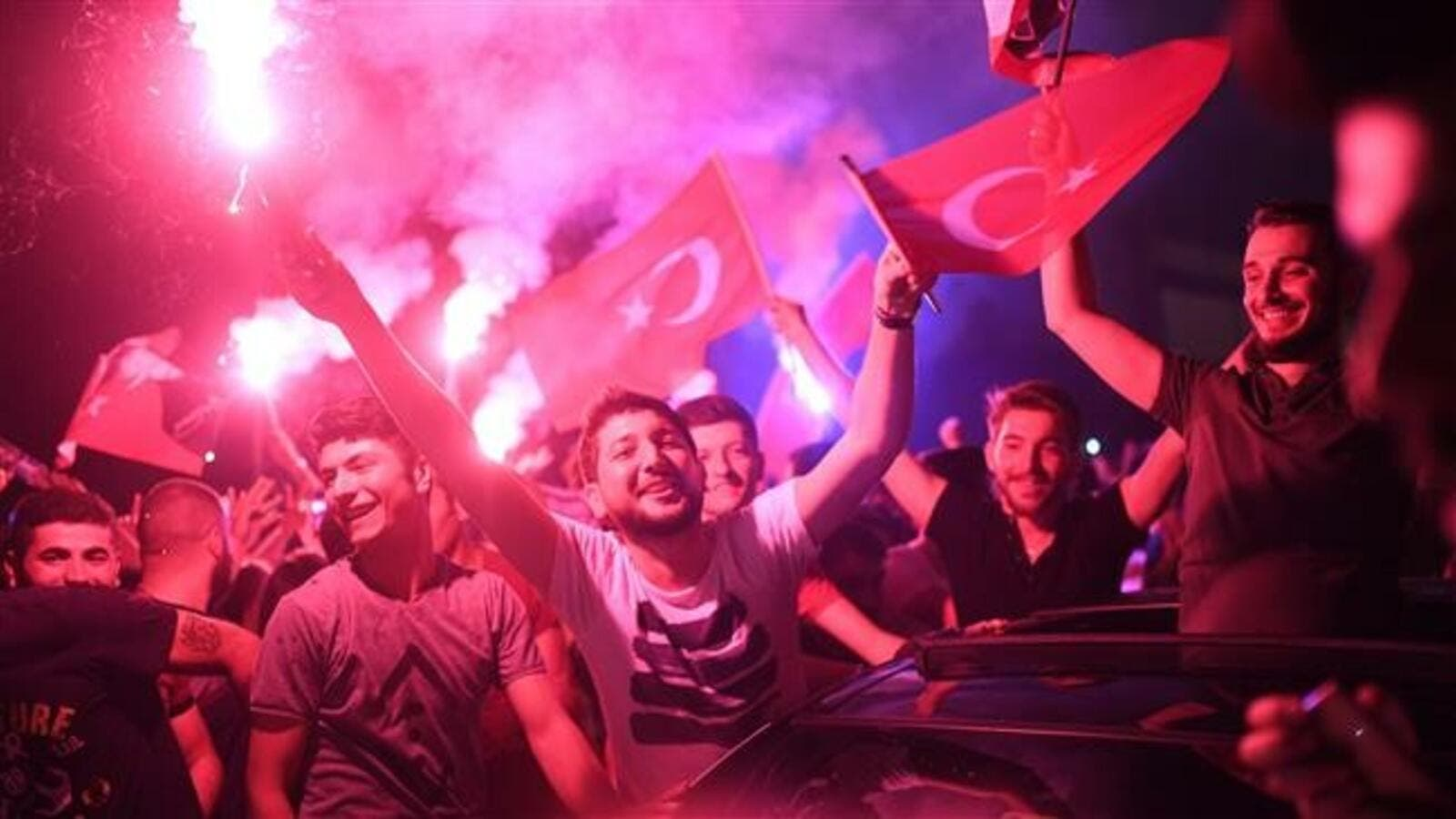 Turkish people gather to celebrate after the Istanbul mayoral elections re-run, at Kadikoy in Istanbul, on June 23, 2019.