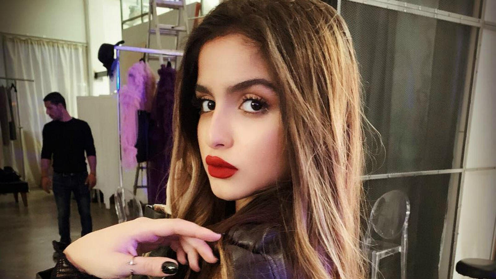 Hala Al Turk visited the mall to advertise her new cosmetic products that carry her name