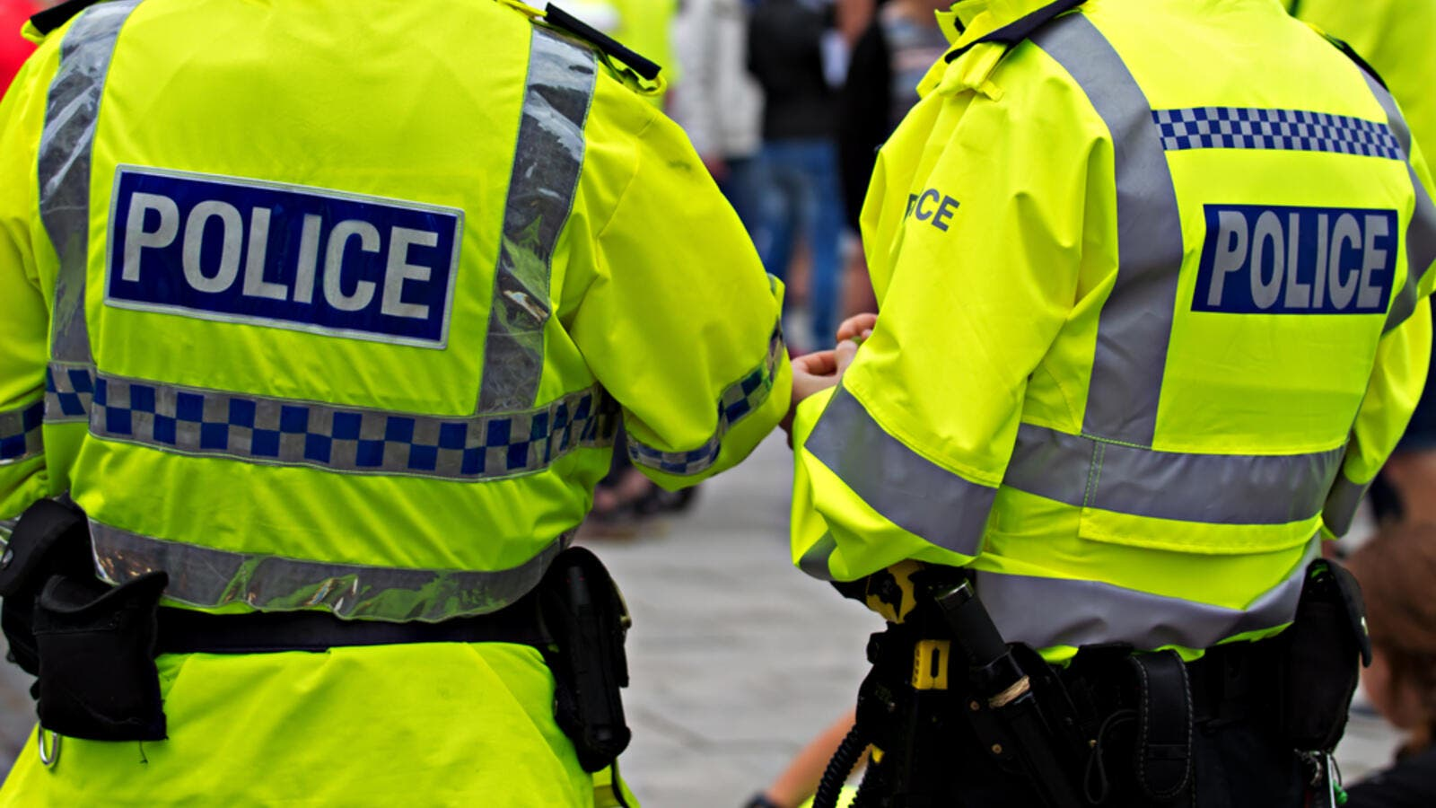 British Police Officers in high visibility uniform. (Shutterstock/ File Photo)