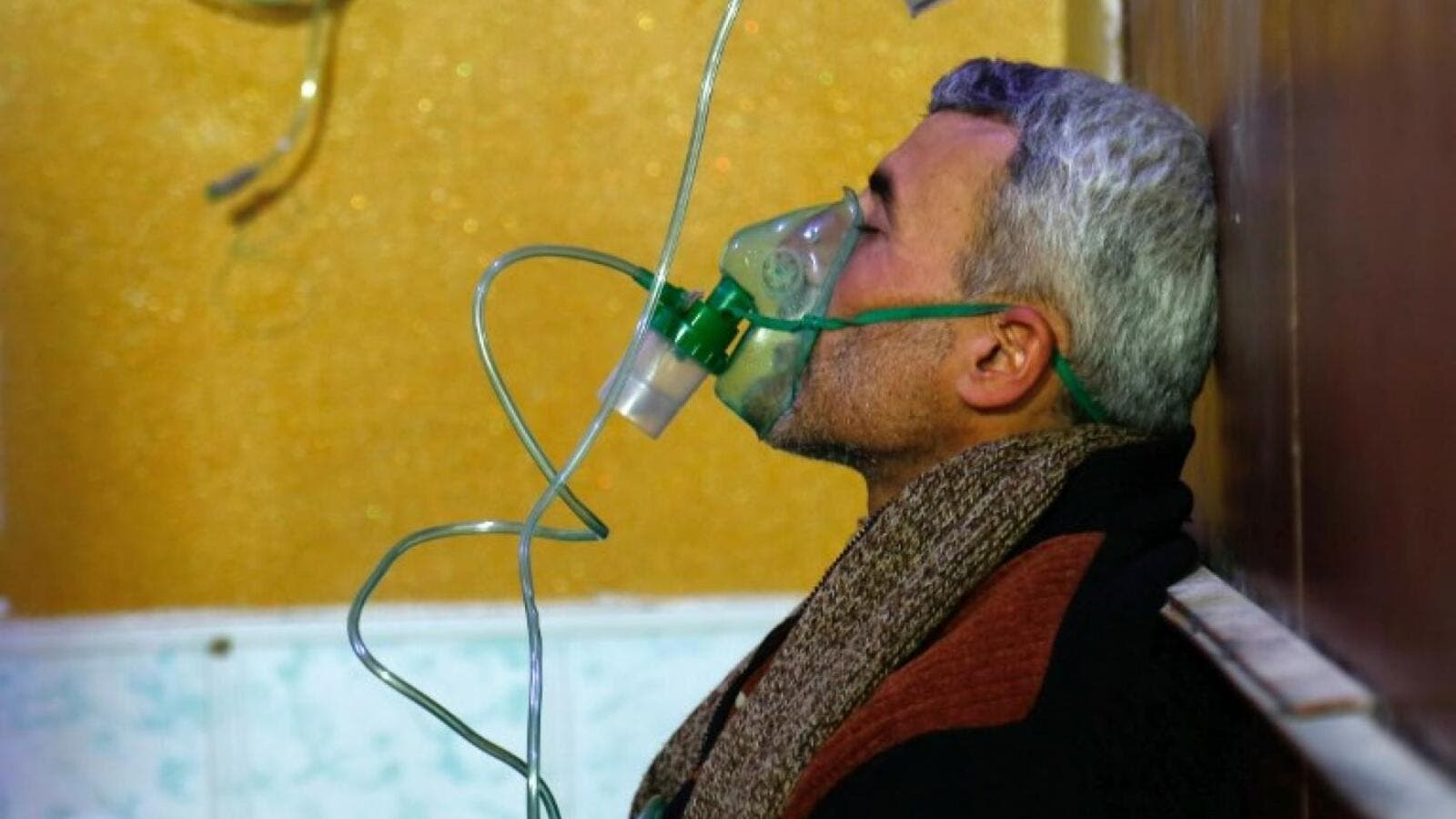 File photo from aftermath of suspected chemical attack in Douma in April. (AFP/ File Photo)