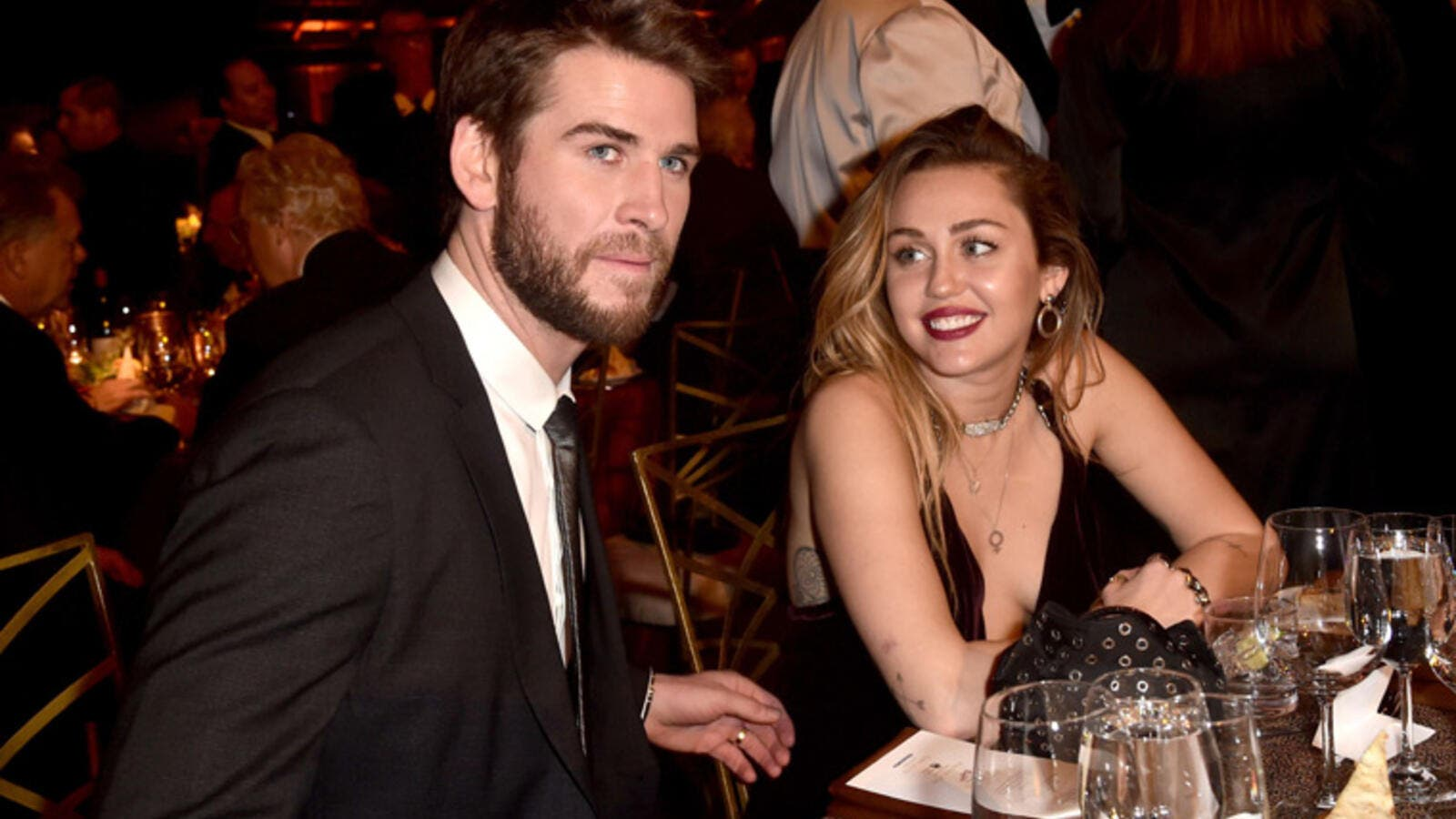 Liam Hemsworth and Miley Cyrus. (AFP)