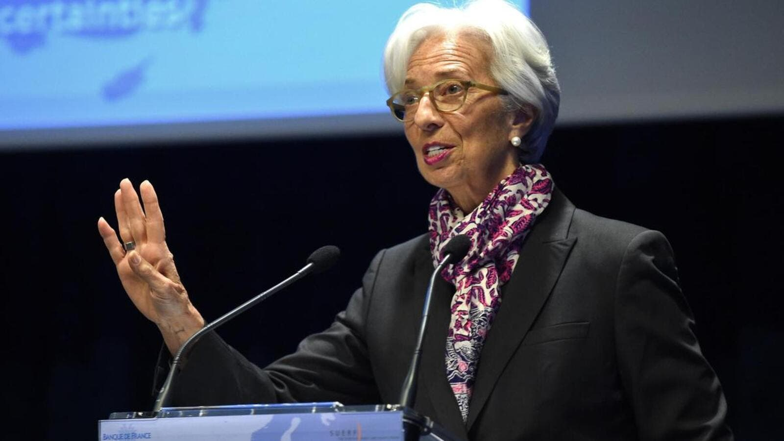 International Monetary Fund managing director Christine Lagarde, seen here in Paris in April, warned of the involvement of big technology firms in the global financial system due to fintech.  (AFP/ File Photo)