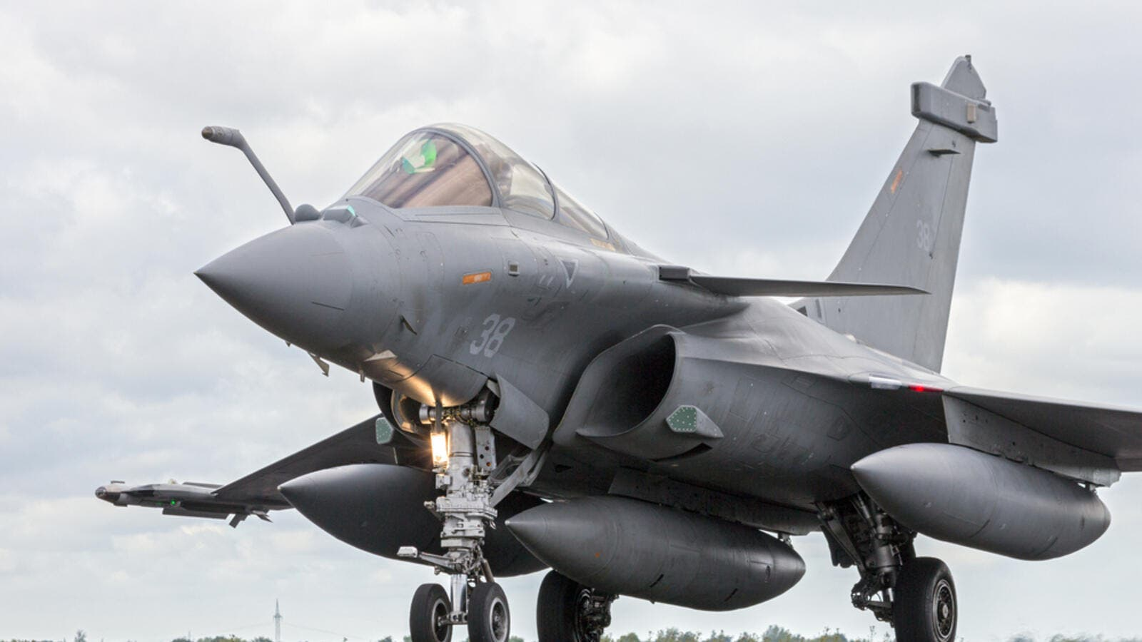 French Air Force Dassault Rafale during the NATO Tiger Meet at Schleswig-Jagel airbase. (Shutterstock/ File Photo)