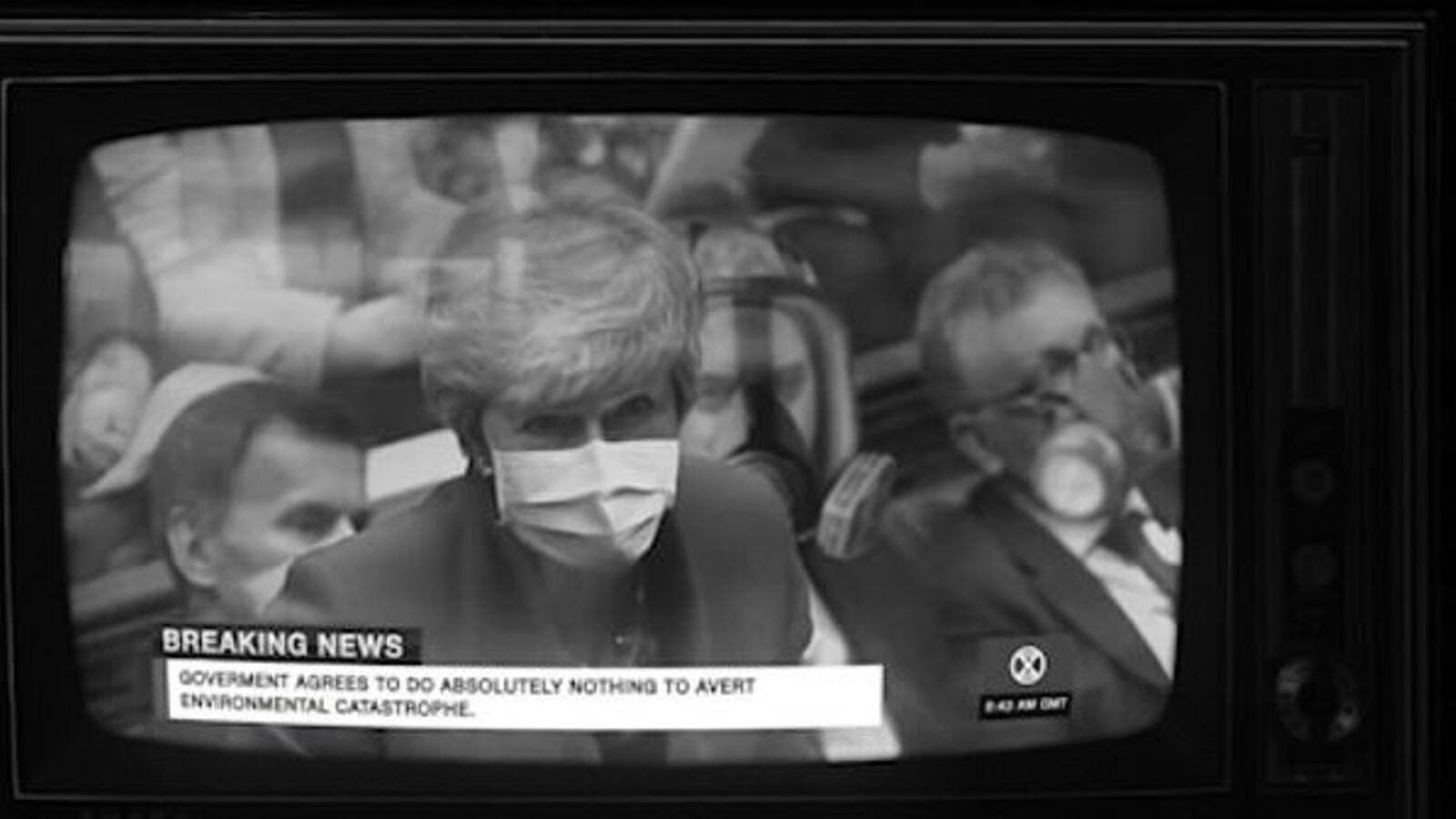 Extinction Rebellion is aiming to scoop the coveted Christmas number one slot with its debut song about climate change. It features a doctored video of former Prime Minister Theresa May addressing the commons with a 'breaking news' banner underneath with the words: 'Government agrees to do absolutely nothing to avert environmental catastrophe' (dailymail)