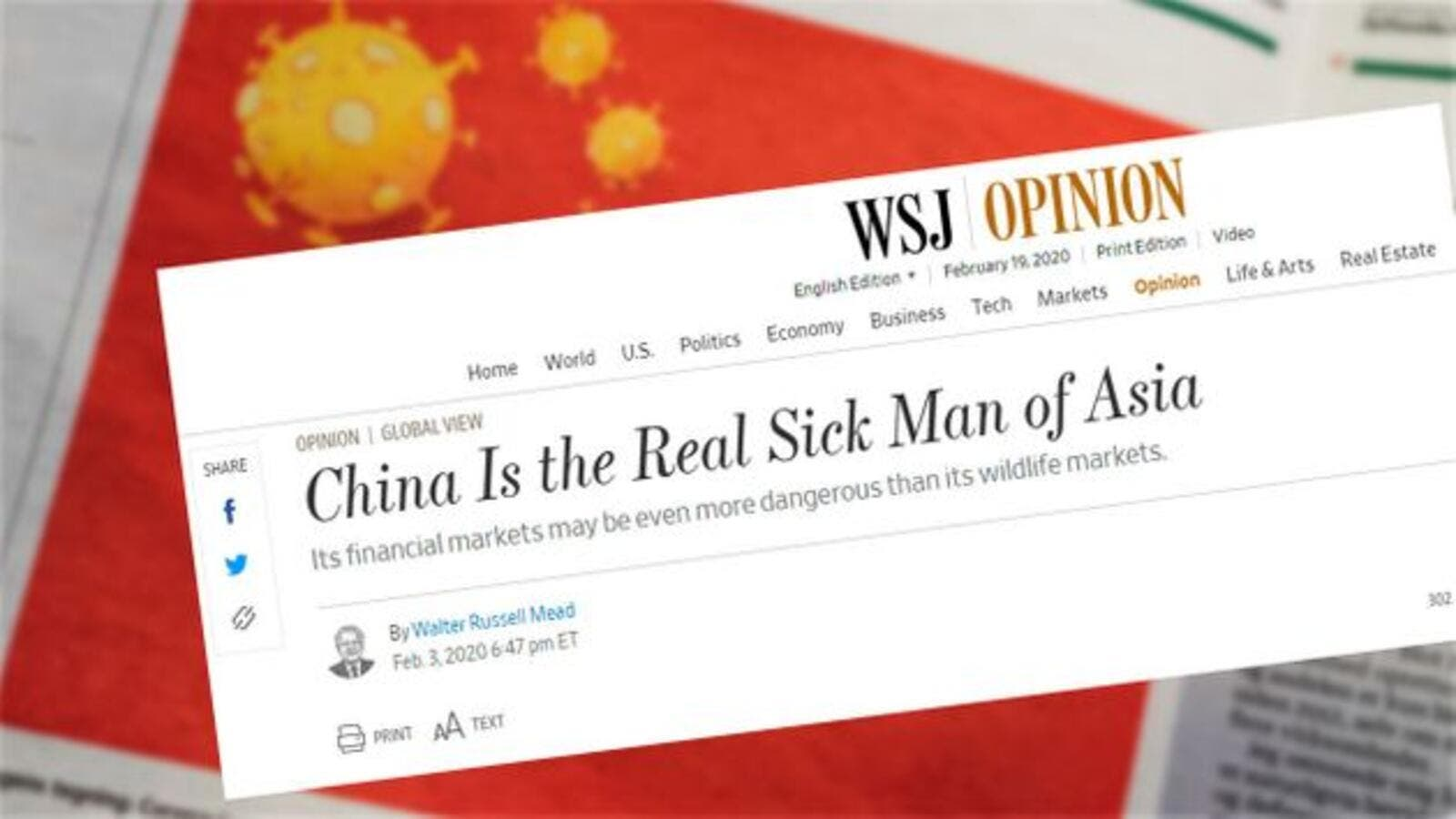 China Expels 3 WSJ Journalists Over a Headline