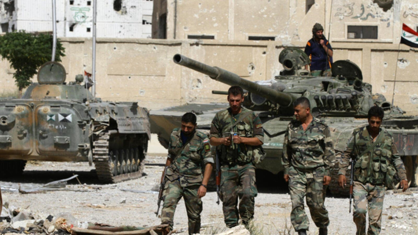 Syrian regime forces have continued their offensive on Islamic State group fighters in southern Syria. (AFP/ File Photo)