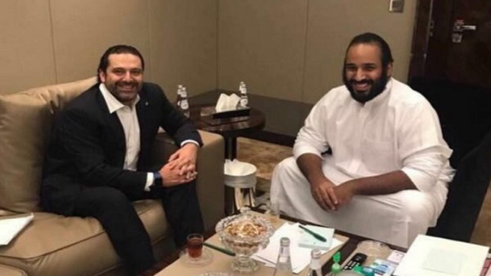 Image result for سعد الحريري مع محمد بن سلمان
