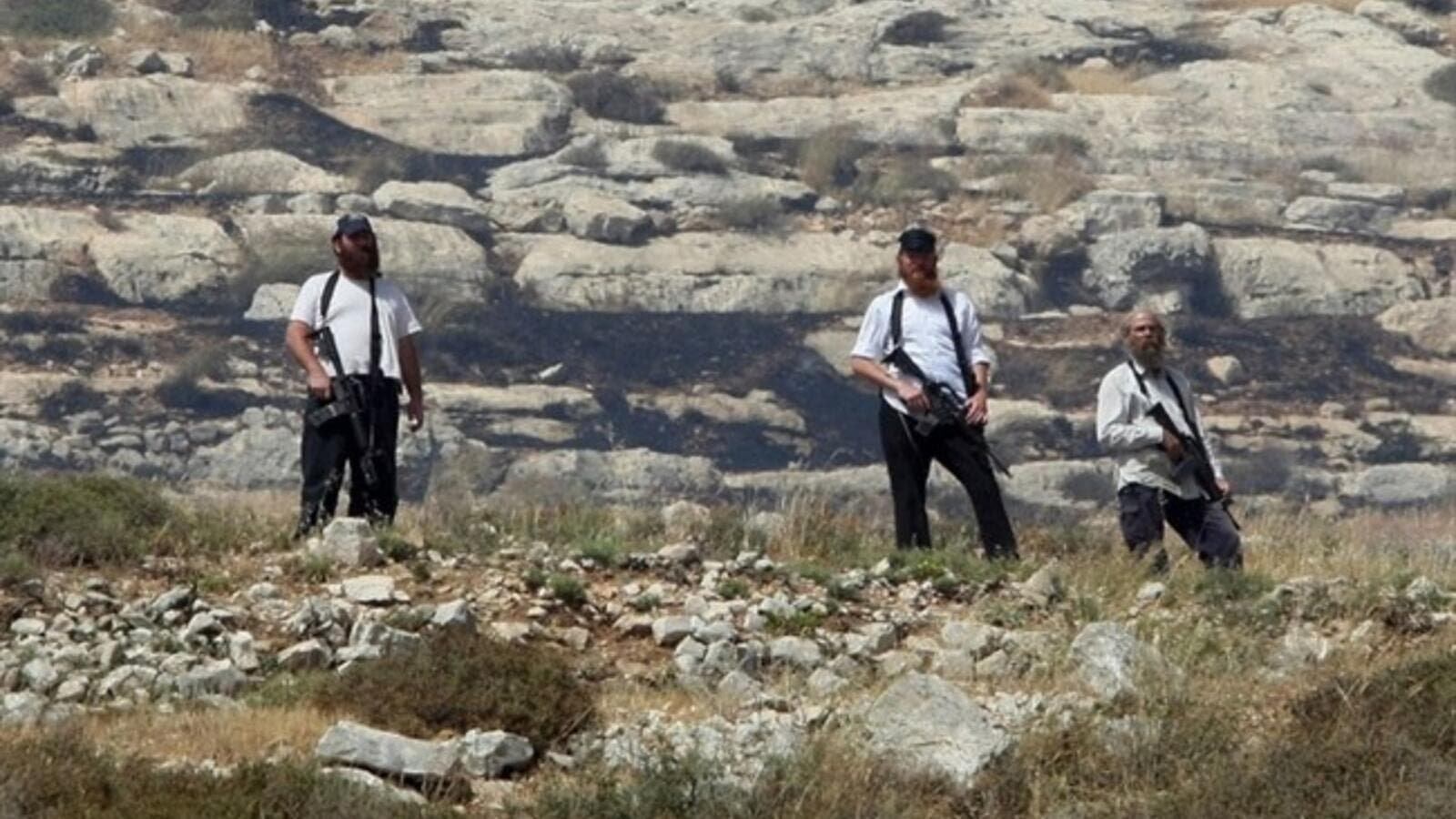 Settlers have also been known to steal crops, damage and burn trees and other plants, and attack places of worship in the area, in an attempt to intimidate Palestinian villagers and farmers from using their land (AFP/File)