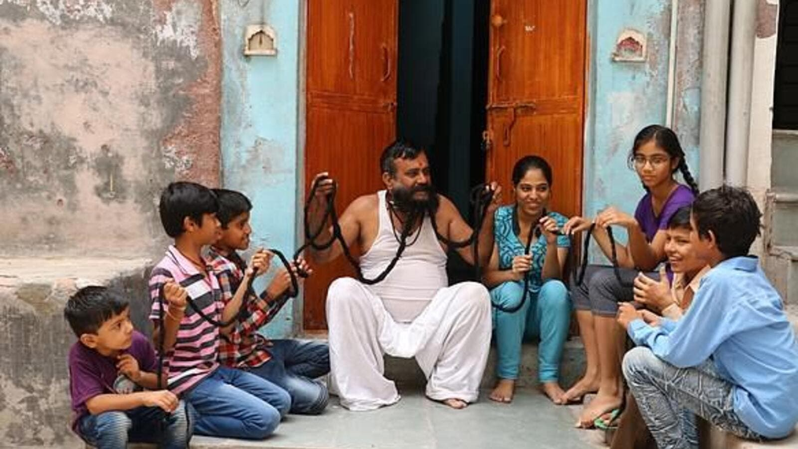 58-year-old Girdhar Vyas (pictured)  has claimed he has the world's longest moustache (dailymail)