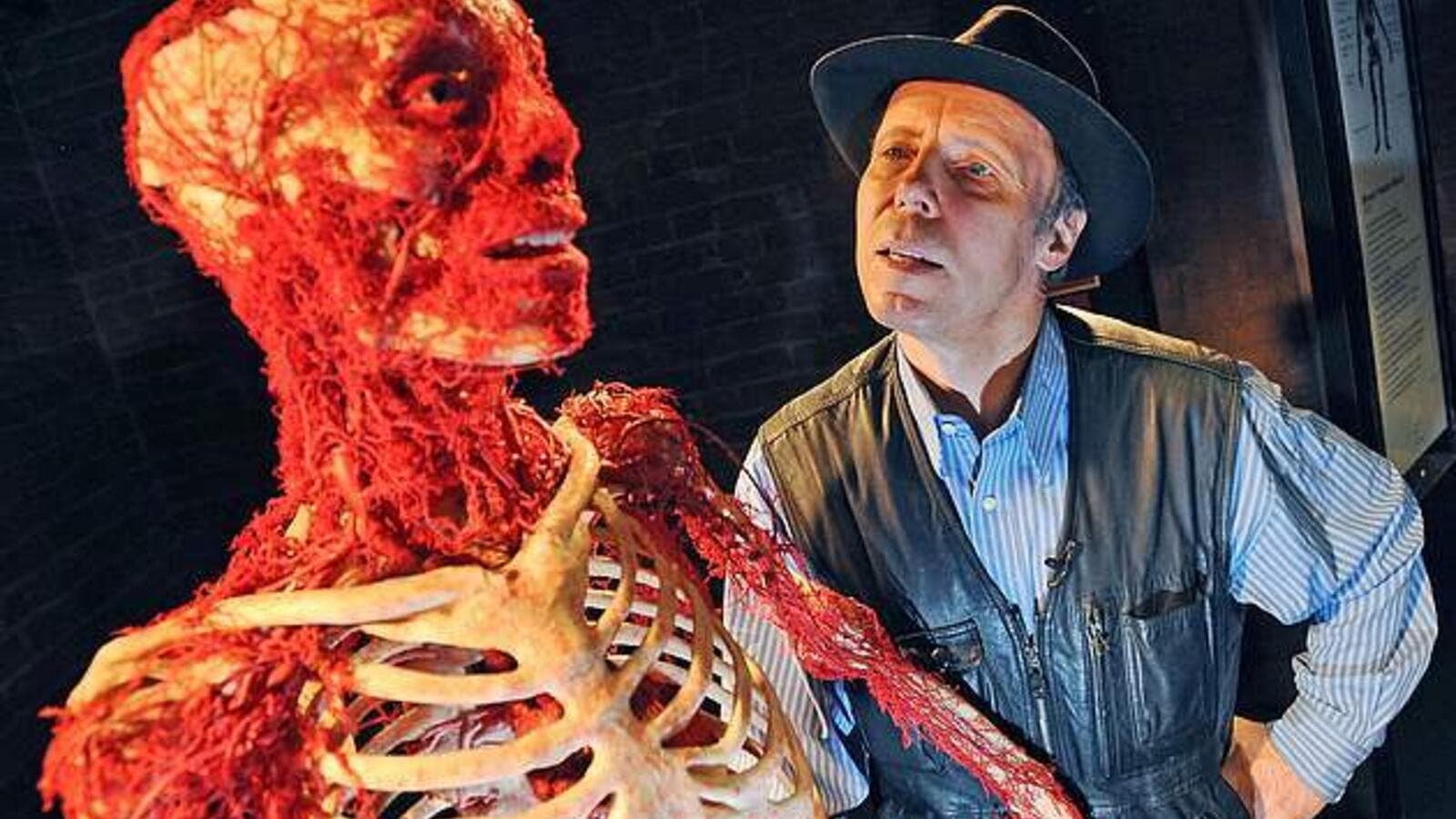 His wife revealed how Von Hagens wants to become part of his latest Body Worlds exhibition, which is due to open to the public in London this week (Shutterstock)