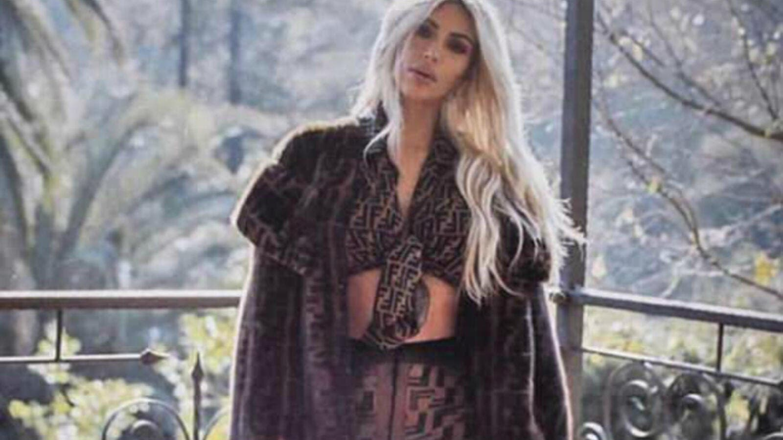 Fierce in Fendi! Kim Kardashian was all about the designer brand Fendi on Instagram Sunday, sharing a sizzling snapshot of herself decked out from head-to-toe in the Italian brand (Source: Kim Kardashian - Instagram)