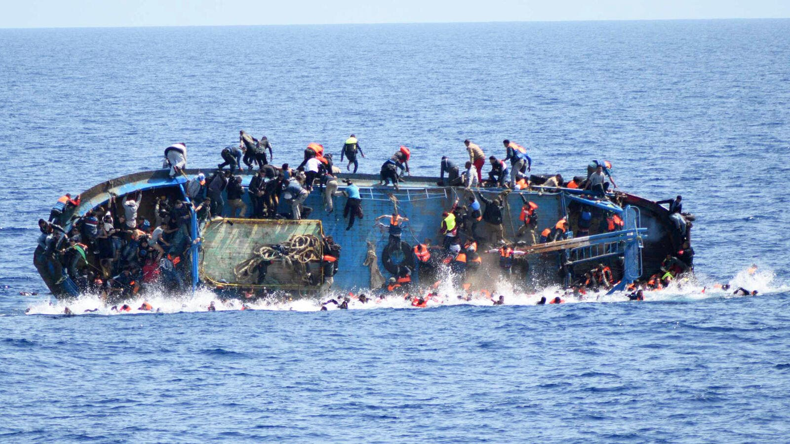 A migrant boat off the Libyan coast (AFP/File Photo)