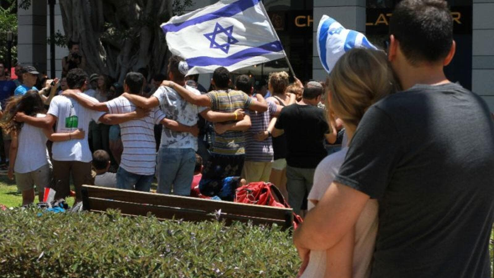 Israeli rightwing students rally against Palestinians (AFP/File Photo)