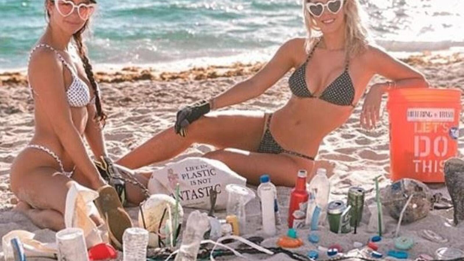 9885c38fbc1 Cleaning up Beach in a Bikini Sends Powerful Message! | Al Bawaba