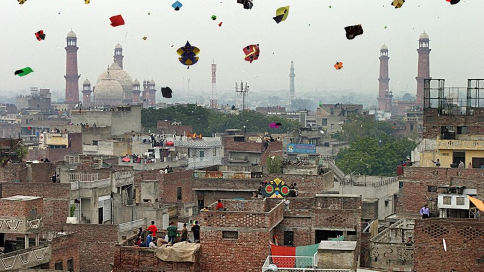 Basant (kite flying festival) in Lahore (Twitter)