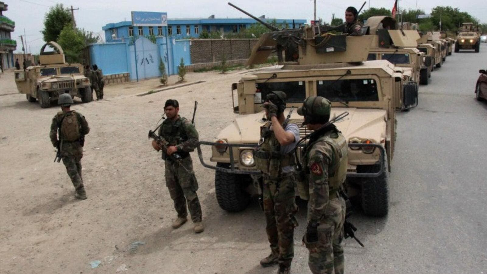 Afghan security forces in the Kunduz province, after a series of Taliban attacks. (AFP/File)