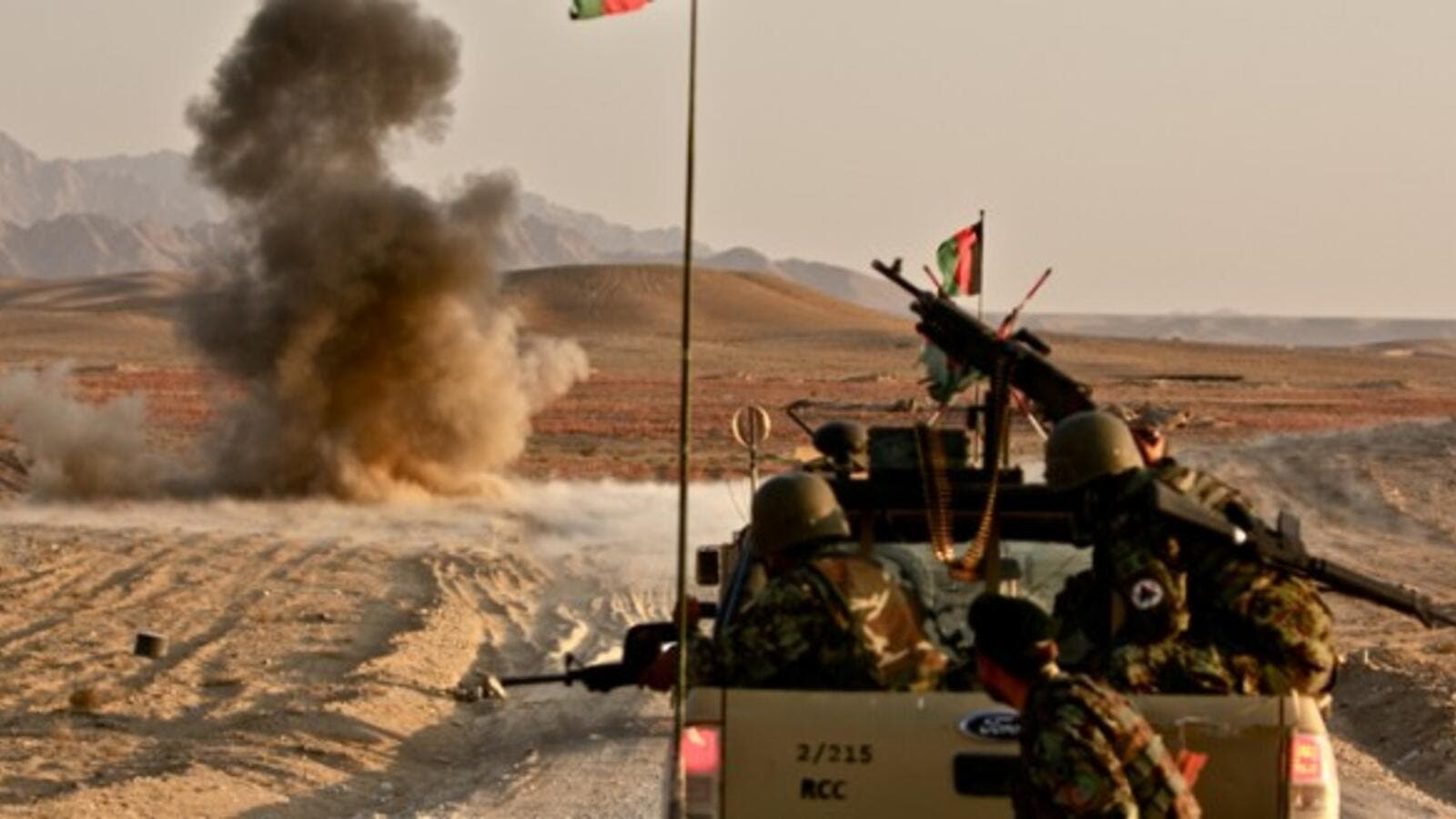 Afghan army soldiers are seen during an operation in Afghanistan. (AFP/File)
