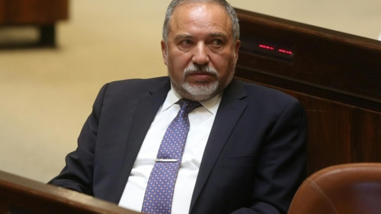 Former Israeli foreign minister and ultra-nationalist MP Avigdor Lieberman is seen during a session of the Israeli parliament on May 30, 2016. (AFP/File)