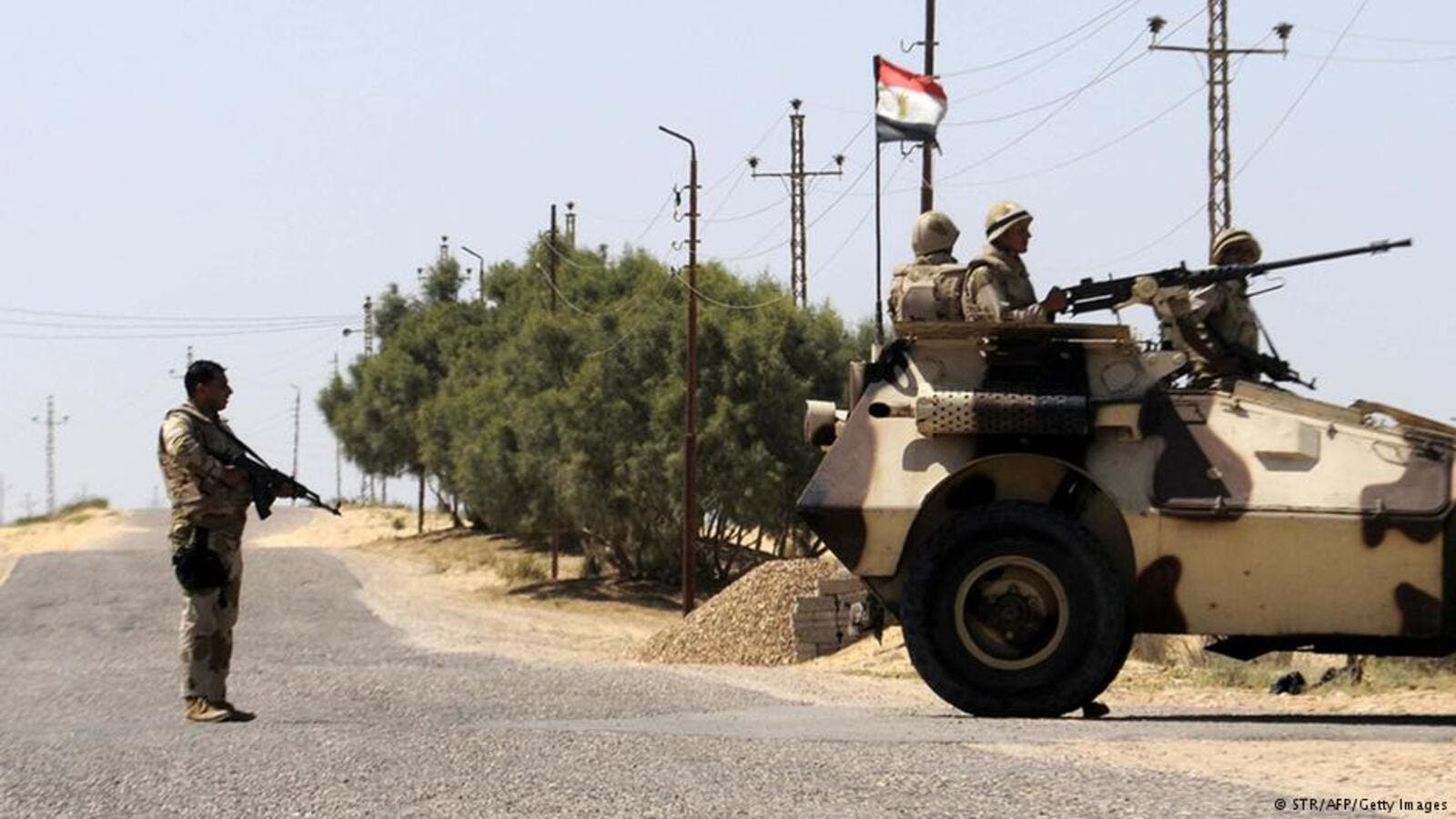 The Egyptian Armed Forces have launched counterattacks against militant stationing points across the Sinai Peninsula where the Sinai Province militant group is based. (AFP/File)