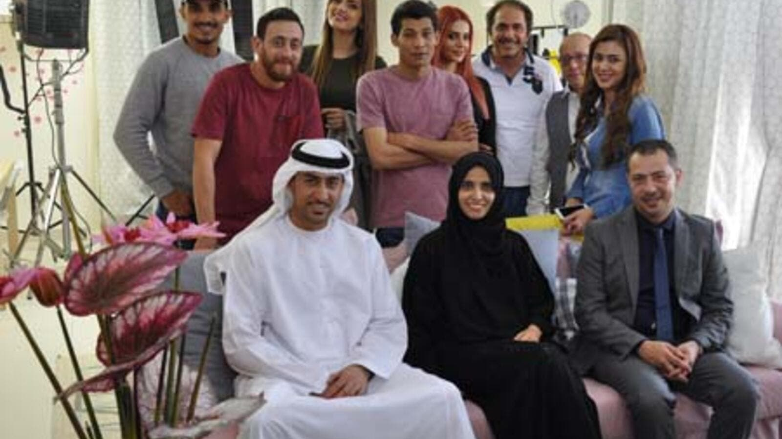 The cast and crew from Clacket Media's new series with Maryam Al Mheiri. (BroadcastProME)