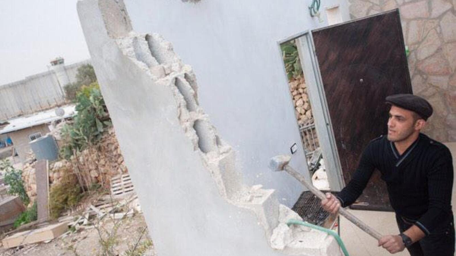 Palestinians Demolish Their own Homes (Twitter)