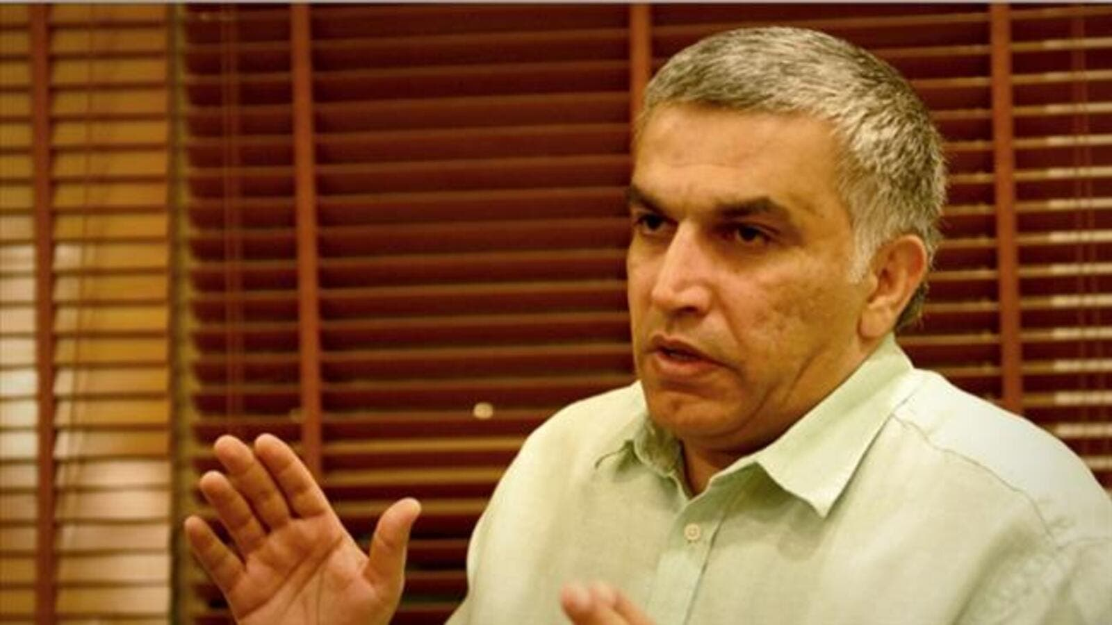 A file photo of prominent Bahraini human rights campaigner Nabeel Rajab. (File photo)
