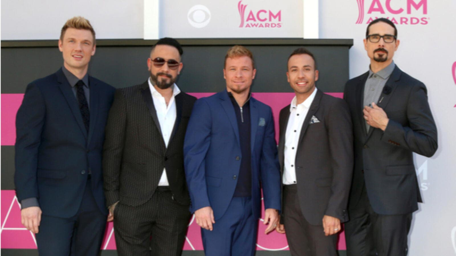 The Backstreet Boys performed at the sold-out Blended music festival at Dubai Media City Amphitheatre (Source: Kathy Hutchins / Shutterstock)