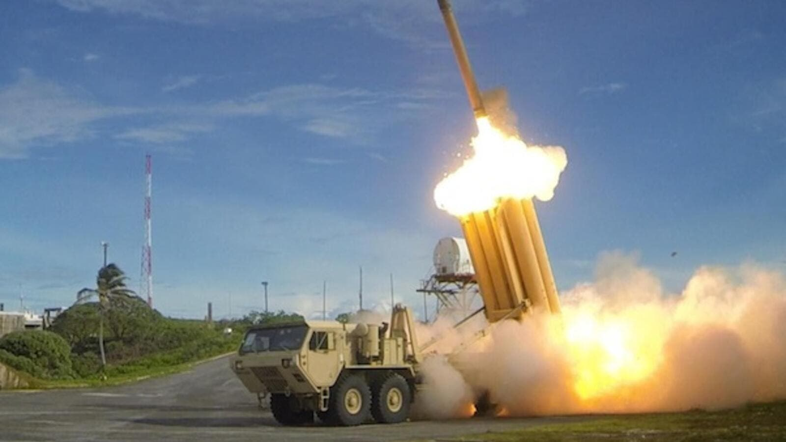 THAAD, or Terminal High Altitude Area Defense is an anti-ballistic missile system designed to shoot down ballistic missiles using kinetic energy. (Defensetalk.net)